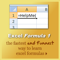 Excel Formula E-Book by Chandoo